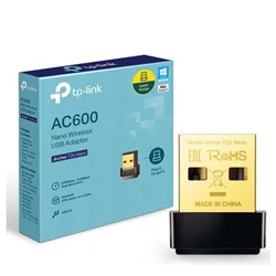 Adaptador USB Nano Tp-Link AC600 Archer T2U Wireless Dual Band 2.5GHz/5GHz Preto CX 1 UN