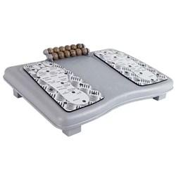 Apoio para os Pés Ergonômico Reliza Ergolight Magnético e Massageador Ajustável Cinza CX 1 UN