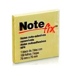 Bloco Adesivo Notefix 654 c/ 1 bloco 100 fhs 76x76mm Amarelo PT 1 UN