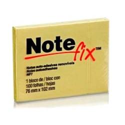 Bloco Adesivo Notefix 657 c/ 1 bloco 100 fhs 76x102mm Amarelo PT 1 UN