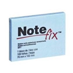 Bloco Adesivo Notefix 657 c/ 1 bloco 100 fhs 76x102mm Azul PT 1 UN