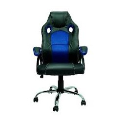 Cadeira Gamer Best G500A c/ Regulagem de altura Preta e Azul CX 1 UN