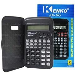 Calculadora Científica Kenko KK-105 c/ 56 Funções - 10 Dígitos Capa Bateria Preto CX 1 UN