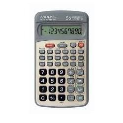 Calculadora Científica Truly Sc107a c/ 56 Funções - 10 Digitos com Capa Grafite CX 1 UN