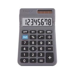 Calculadora de Bolso Truly 329 -  8 Dígitos Bateria Cinza Bt 1 UN