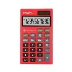 Calculadora de Bolso Truly 666 - 10 Dígitos Solar/Bateria Vermelho BT 1 UN