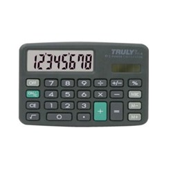 Calculadora de Bolso Truly 711 - 8 Dígitos capa Solar/Bateria Preto BT 1 UN