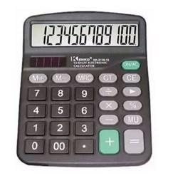 Calculadora de Mesa Keenly KK-837 -12 Digitos Pilha A2 + Solar Preto CX 01 UN