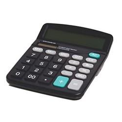 Calculadora de Mesa Pisc 1888 - 12 Dígitos Pilha Solar Preto CX 1 UN