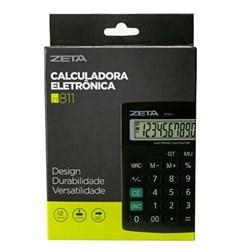 Calculadora de Mesa Zeta ZT 811 - 12 Dígitos Preto CX 1 UN