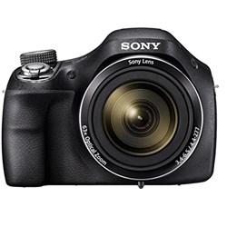 Câmera Digital Sony DSC-H400 20.1MP LCD 3 Zoom 63X Estabilizador Optico e Video HD Preta CX 1 UN