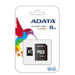 Cartão de Memória 8GB Micro SD Adata AUSDH8GCL4-RA1 Classe 10 c/ Adaptador BT 1 UN