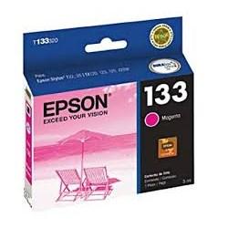 Cartucho de Tinta Epson T133320BR Magenta Original 5ml CX 1 UN