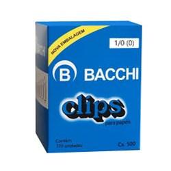 Clips 1/0 (0) Galvanizado Bacchi 500g CX 770 UN