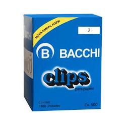 Clips 2 Galvanizado Bacchi 500g CX 1100 UN