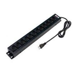Filtro de Linha p/ Rack 12 Tomadas Force Line 0091000001 Metal 1,5M 10A Preto BT 1 UN