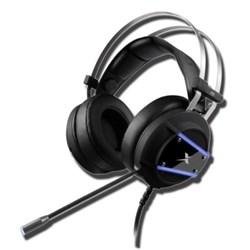 Fone de Ouvido c/ Microf Dex DF-88 Gamer Led Azul subwoofer Preto CX 1 UN