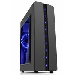 Gabinete Gamer K-Mex CG04R8R Matrix Lateral Acrílico LED Azul s/ fonte CX 1 UN