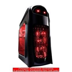 Gabinete Gamer Pixxo CGA022 1 Baia s/ Fonte Preto CX 1 UN