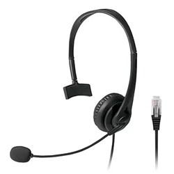 Headset p/ Telefone Multilaser PH251 c/ Conector RJ9 Preto CX 1 UN