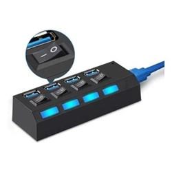 Hub USB 4 Portas Dex 1264 Botão Preto BT 1 UN