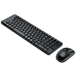 Kit Teclado e Mouse s/ Fio Logitech MK220 Preto CX 1 UN