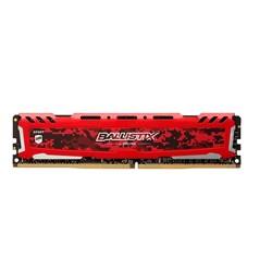 Memória Desktop 16GB DDR4 Crucial Ballistix Sport - BLS16G4D26BFSE 2666MHz CL16 Vermelho BT 1 UN