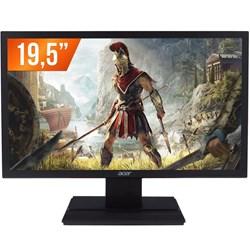 """Monitor LED 19,5"""" Acer V206HQL Widescreen 1366x768 VGA HDMI Preto CX 1 UN"""