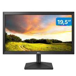 """Monitor LED 19,5"""" LG 20MK400H-B Widescreen c/ Ajuste de Inclinação HDMI/VGA P2 Preto CX 1 UN"""