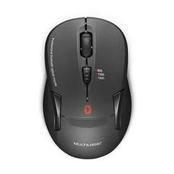 Mouse sem Fio Bluetooth + 2.4 Multilaser MO254 1600DPI 5.0 Preto CX 1 UN