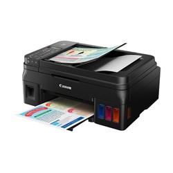 Multifuncional Tanque de Tinta Canon G4100 Maxx Tinta Colorida Wi-Fi Fax ADF Preto CX 1 UN