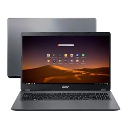 "Notebook Acer Aspire 3 A315-56-569F Intel i5, 4GB, SSD 256GB NVMe, Tela 15,6"" EndlessOS Gray CX 1 UN"