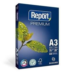 Papel A3 Sulfite Report 75g Branco 297x420mm PT 500 FLS