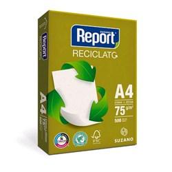 Papel A4 Sulfite Report Reciclato 75g 210x297mm PT 500 FLS