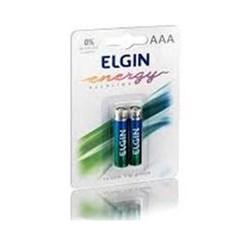 Pilha Alcalina AAA Elgin LR03 - 82154 1,5v BT 2 UN