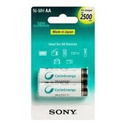 Pilha Recarregável AA Sony NH-AA-B2GN 2500Mah BT 2 UN