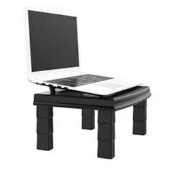 Suporte p/ Monitor e Notebook Reliza Ergodesk 3045 c/ 4 Niveis de Altura Preto CX 1 UN