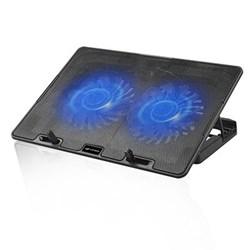 "Suporte p/ Notebook C3Tech NBC-50V2BK c/ 2 Coolers e Regulagem de Altura Até 15,6"" Preto CX 1 UN"