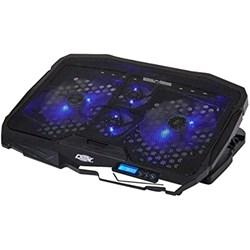 """Suporte p/ Notebook Dex DX-006 com 4 coolers e Regulagem de Altura Até 17"""" Preto CX 1 UN"""