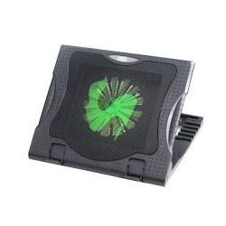 """Suporte p/ Notebook Dex DX-885 com Cooler e Hub USB Até 15.6"""" Pol Preto CX 1 UN"""