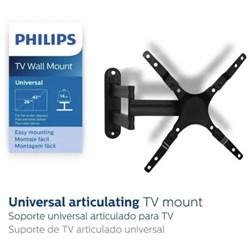 "Suporte para TV Articulado Philips SQM9400/97 Metal 26"" a 42"" 14Kg Preto CX 1 UN"