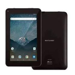 "Tablet Multilaser 7 M7S GO NB316 Quad Core 16GB Tela 7"" Android 8.1 Dual Câm 1.3/2MP Bluetooth Preto CX 1 UN"
