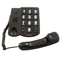 Telefone c/ fio Intelbras Tok Fácil Teclas Grandes Preto CX 1 UN