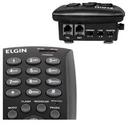 Telefone c/ Headset Elgin HST-6000 com Base Discadora Preto CX 1 UN