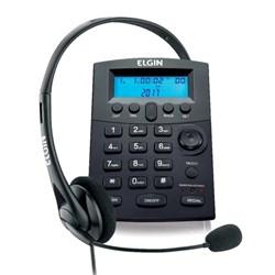 Telefone c/ Headset Elgin HST-8000 com Base discadora e ID de Chamadas CX 1 UN