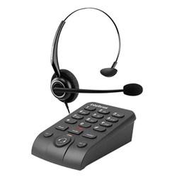 Telefone c/ Headset Intelbras HSB50 com Base Discadora Preto CX 1 UN