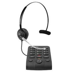 Telefone com Headset Intelbras HSB40 - 4013342 com Base discadora Preto CX 1 UN