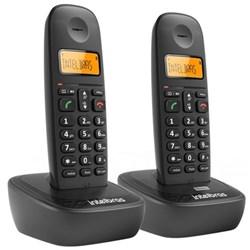 Telefone s/ Fio Intelbras TS 2512 + 1 Ramal c/ ID de Chamadas Dect 6.0 Preto CX 2 UN
