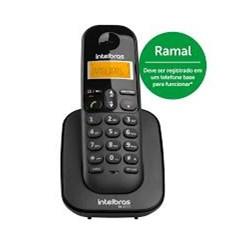 Telefone s/ fio Intelbras TS3111 RAMAL c/ ID de Chamadas Dect 6.0 Preto CX 1 UN