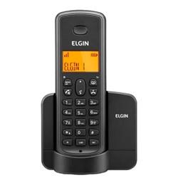 Telefone sem Fio Elgin TSF8001 com ID de Chamadas Viva Voz Preto CX 1 UN